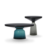 Bell coffee table black blue bell side table black grey