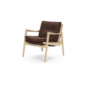 Euvira lounge chair oak leather 40