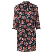 Frauenbekleidung kleider chiffon blumen athena winterroses 3