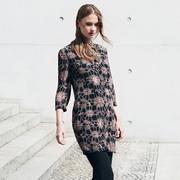 Frauenbekleidung kleider chiffon print athena stainedglass 1