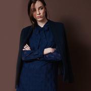 Frauenbekleidung maentel viskose blau macy blue 1