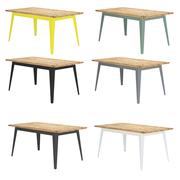 Tisch 'Plog' mit Bauholz