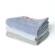 Grafisches Plaid aus Baumwolle
