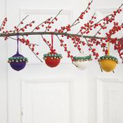 Farbenfrohe Weihnachtskugeln