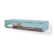 Side box turquoise grey felt