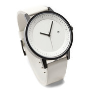 Simple watch co earl timepiece white black white angle