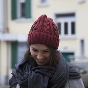 Strickmütze für warme Ohren