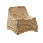 Rattan-Lounger und Hocker 'Chill'