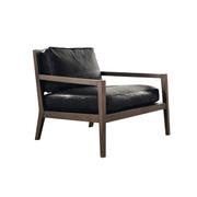 Eleganter Sessel mit Lederpolster