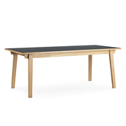 Normann copenhagen slice table linoleum 84 x 160 cm grau