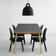 Normann copenhagen slice table linoleum schwarz situation