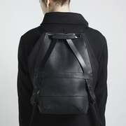 Pan black slim backpack