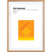 Poster 'Old Fashioned' gerahmt