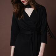 Frauenbekleidung kleider viskose schwarz camilla pitch black 2