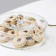 zylindrische Deckeldose von 'Glasi Hergiswil'