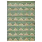 Hemp rug arctic dark mint