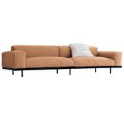 Schlichtes Sofa 'Naviglio' in Stoff