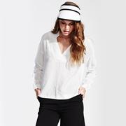 Frauenbekleidung oberteile leinen weiss diana daisywhite 2 1