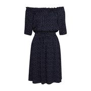 Frauenbekleidung kleider viskose blau print marie bluedream 4 1
