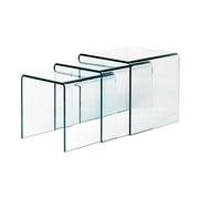 Transparent glass nesting tables.3