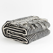 Handloom cotton towels black stripe handloom turkish towels pom pom 3 1024x1024