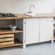 Küchenschrank 'Basic' in Weiss