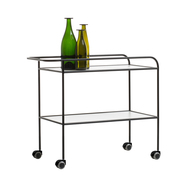 Cappellini steel pipe drink trolley 2 b