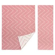 Plastic rug rita pink blush