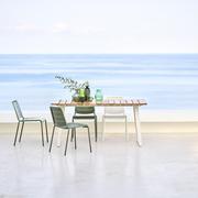 Copenhagen teak dining citychair white olive green 1 1200px