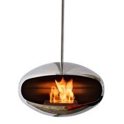 Elegante 'Cocoon' Feuerstelle chrom