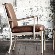 Colonial chair carl hansen white oiled oak leather