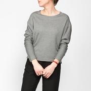 E431 female sweat shirt greyheather front