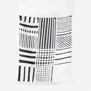 Coopdps cotton blankets towels coopdps sketch 2 cotton blankets by nathalie du pasquier george sowden black white 2 1024x1024