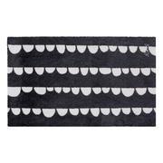 Mad about mats teppich bruno mit halbkreismuster schwarz weiss 110x67cm