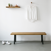 Nutsandwoods oak steel bench 02
