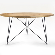 Nutsandwoods oak steel table round 03