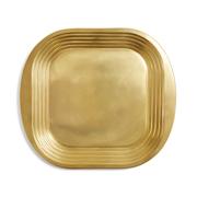 Goldenes Tablett aus Messing