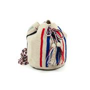 Kleine Boho-Tasche mit Streifen