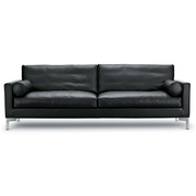 Ledersofa 'Lift' in Schwarz
