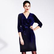 1718 39 dress royal blue 1 new