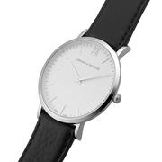 Armbanduhr 'Lugano' silber/schwarz