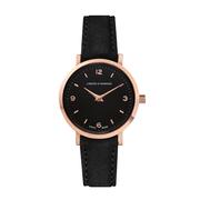 Kleine Armbanduhr 'Lugano' in Schwarz