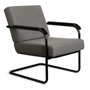 'Moser' Fauteuil in Steelcut