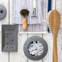 Grey rectangular soap dish 676356