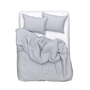 Natural linen bedding blue check linen duvet covers pillows yarn dyed 2