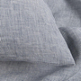 Natural linen bedding blue check linen duvet covers pillows yarn dyed 1