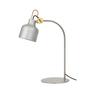 Konsthantverk bolb bordslampa 1430 5 aluminiummassing
