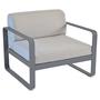 370 47 carbone fauteuil gris flanelle