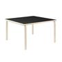 Aalto table square 84 legs and edge band birch top black linoleum 2222746