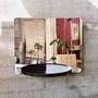 Artek 124 grad mirror mit ablage schwarz esche vor betonwand ambiente
